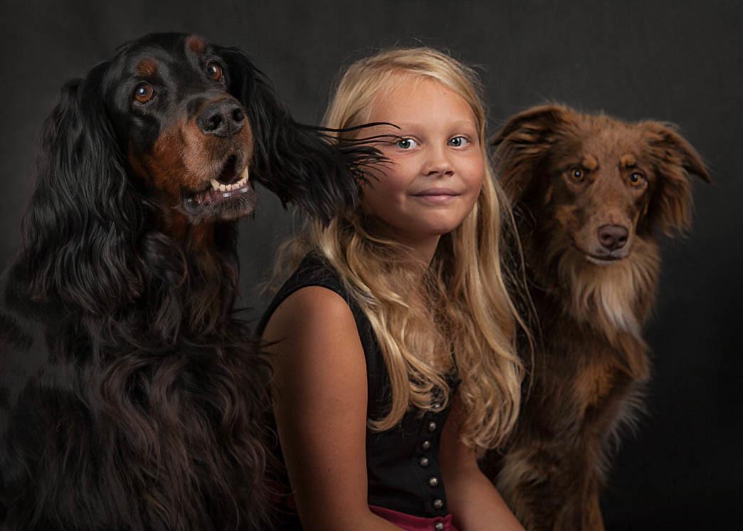 Fotostudio1 in Mönchengladbachfotografiert Mensch und Hund